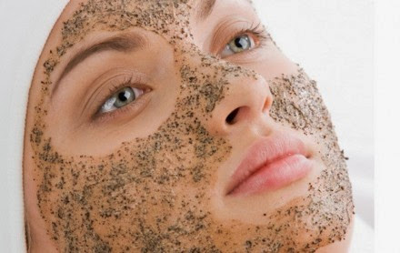 using facial scrub