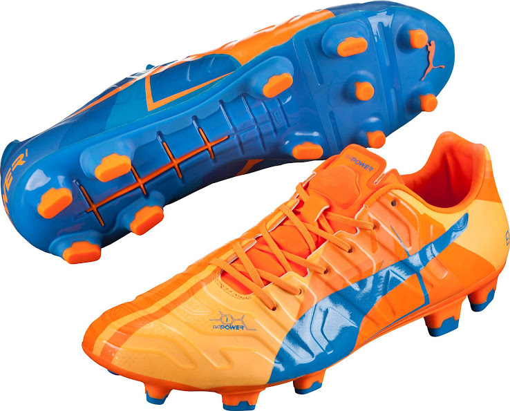 100% authentic 6808a b3853 Puma evoPOWER 1.2 FG Electric Blue   Orange Clown Fish. This is the new Puma  evoPOWER Tricks 2015 Boot.
