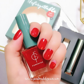 Review; Forencos' Unforgettable Nail Lacquer RED