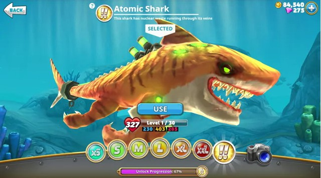 mod hungry shark world tanpa root