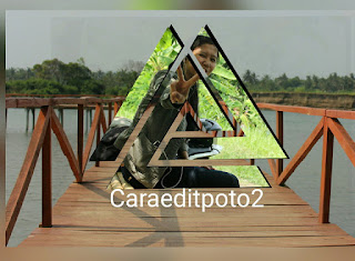 Edit Foto Segitiga Croping Logo PicsArt - Android