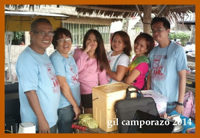 Camporazo family posed inside the cottage