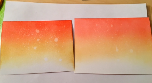 Ink blended backgrounds with Distress Ink on Ranger and Bristol paper