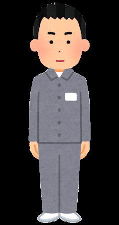 受刑者のイラスト(男性)