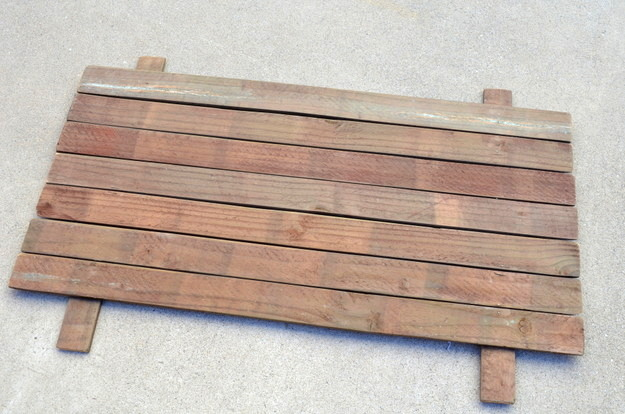 build a base for a rustic sign with scrap wood