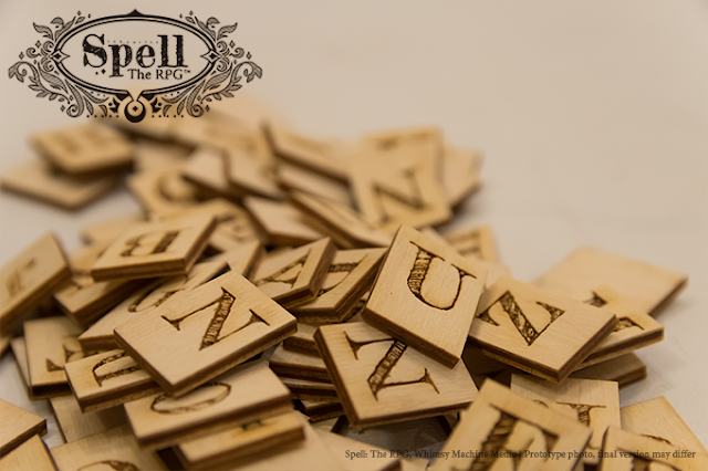 A stack of wooden letter tiles.