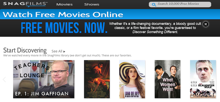 Watch Free Full Movies on SnagFilms
