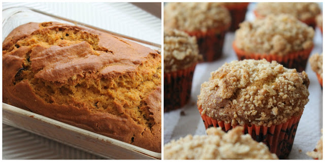 Make pumpkin bread or pumpkin muffins