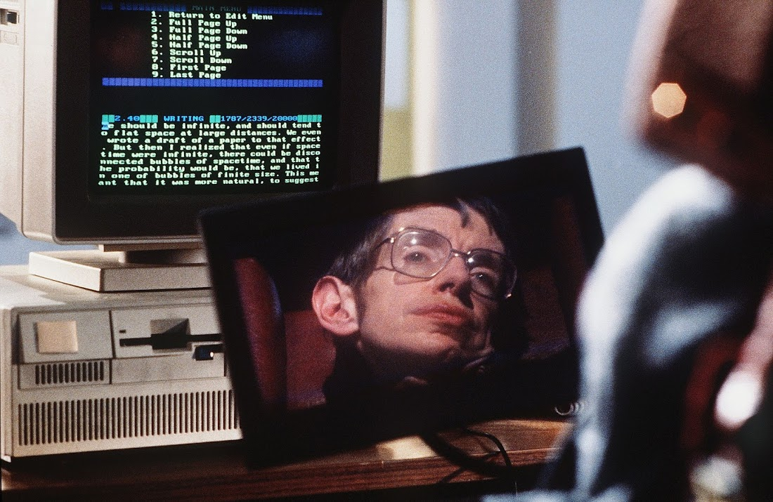 Một cảnh trong phim tài liệu Lược sử thời gian (1992) của Errol Morris. Hình ảnh: Triton/Kobal/Rex/Shutterstock.