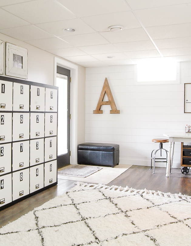 modern farmhouse basement makeover