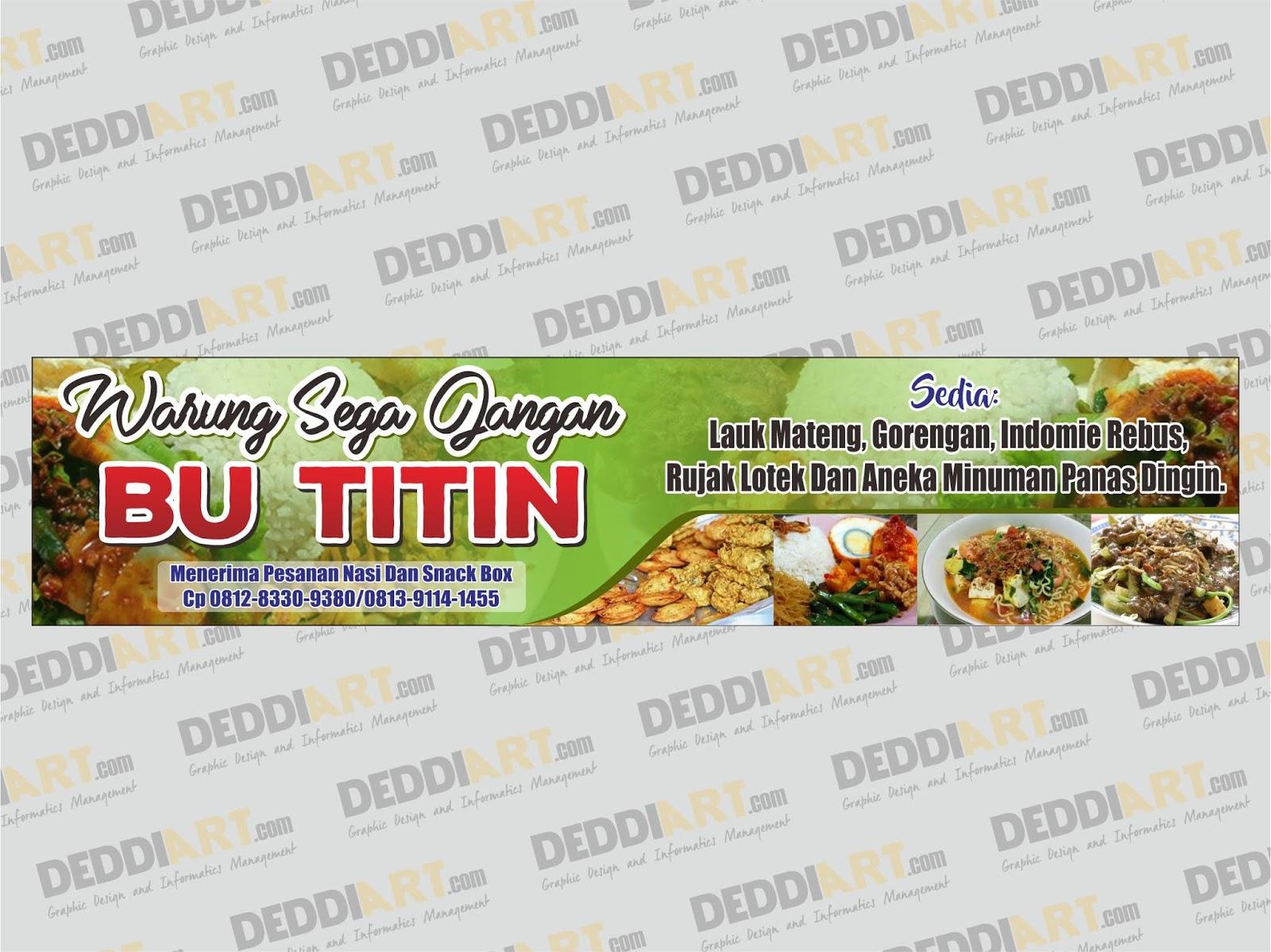Contoh Desain Banner Makanan Cdr - gambar spanduk
