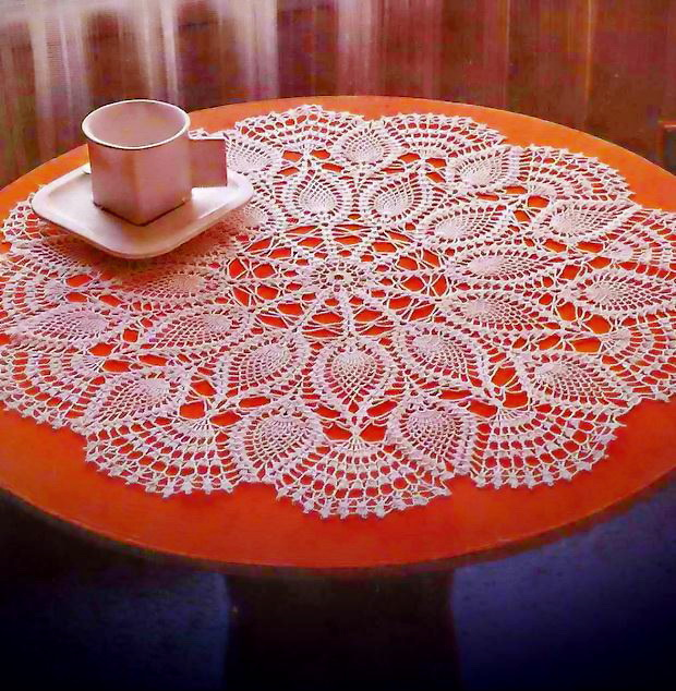 Crochet Doily Pattern, Pineapple Doily, Vintage Crochet Pattern