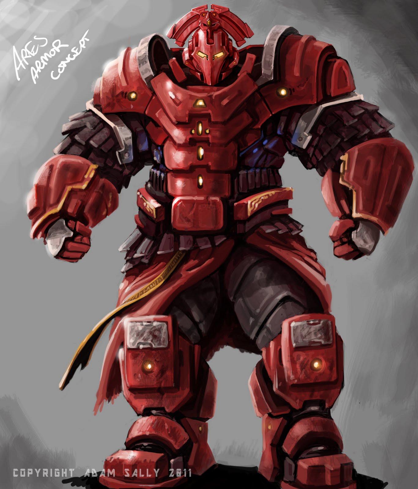 the art of adam ares armor concept