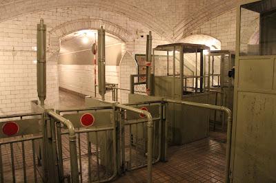 Taquillas antiguas del metro de Madrid