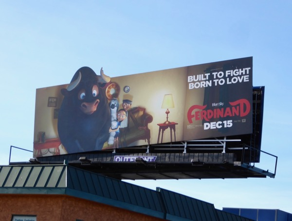 Ferdinand tilted movie billboard