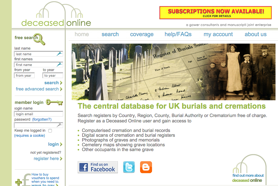 Lewisham burial records added to Deceased Online - Friends of
