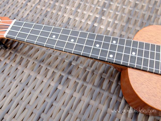 DJ Morgan Soprano ukulele fingerboard