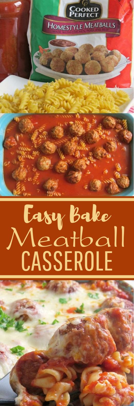 Cheesy Meatball Casserole #easy #dinner