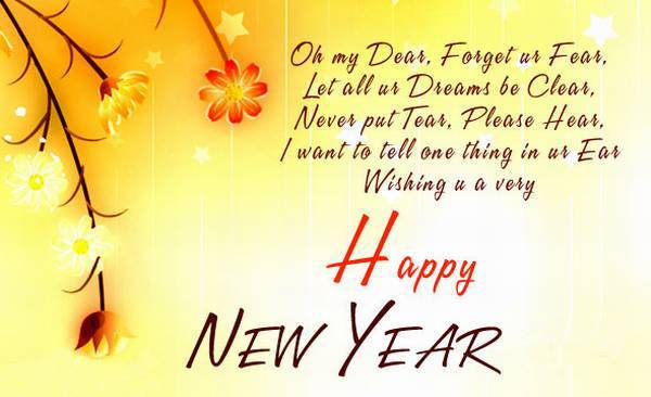 Happy New Year 2017 Wishes Cards For Girlfriend