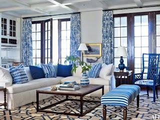 diseño de sala azul