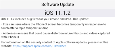 iPhone X iOS 11.1.2 Update: What's New?