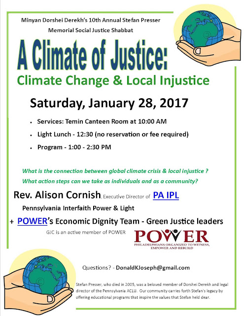 Jan 29th - Stefan Presser 2017: Global Climate Change/Local Injustice