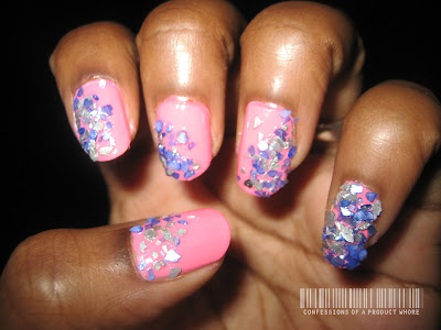 Hood Beauty Find: Sea Gems manicure on natural nails