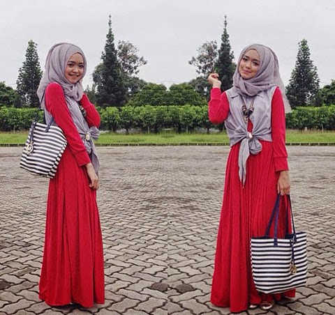 contoh model baju hijab terbaru