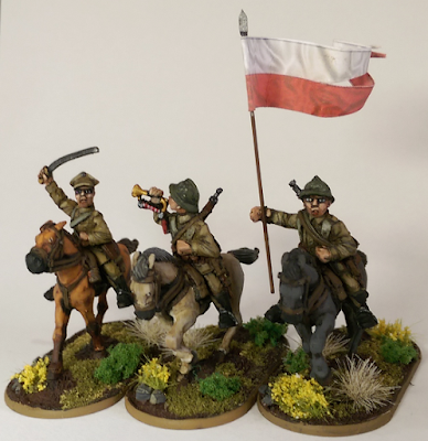 28mm Warlord Games Cavalry Poland Polish Flag Banner