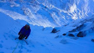 Scott Fett winter climbing on Cnap Coire na Spreidhe Cairngorms