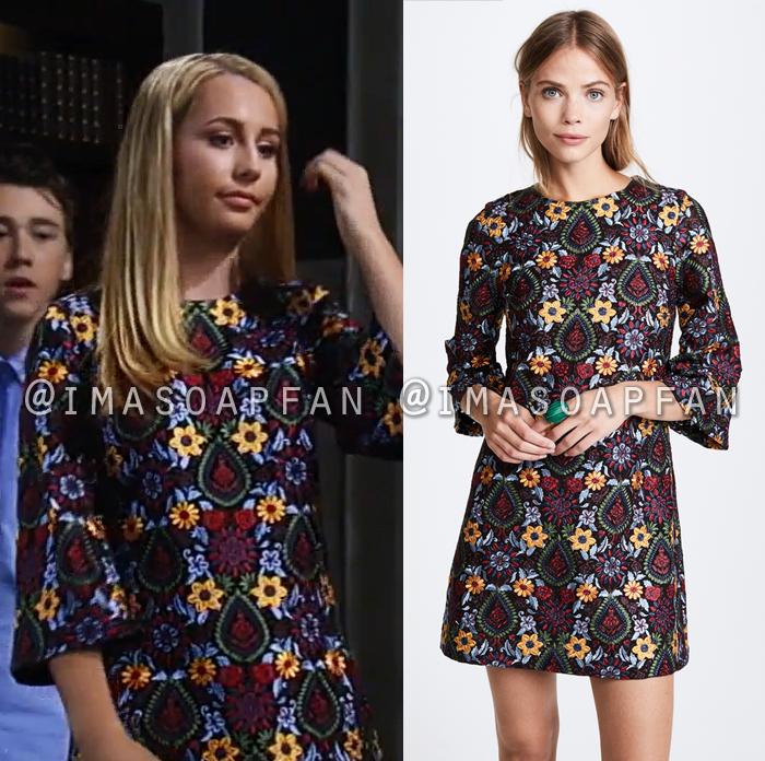 Josslyn Jacks, Eden McCoy, Multicolored Floral Embroidered Shift Dress, General Hospital, GH