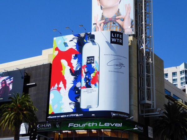 Life Wtr fashion art bottle billboard