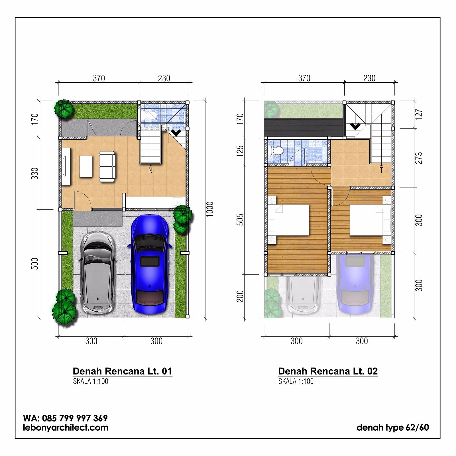 Lebony Architect Jasa Desain Rumah Mewah Denah Rumah Di Lahan Ukuran 6 X 10 Meter