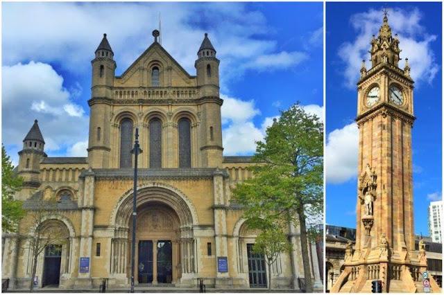 Catedral de Santa Ana y Albert Memorial Clock en Belfast