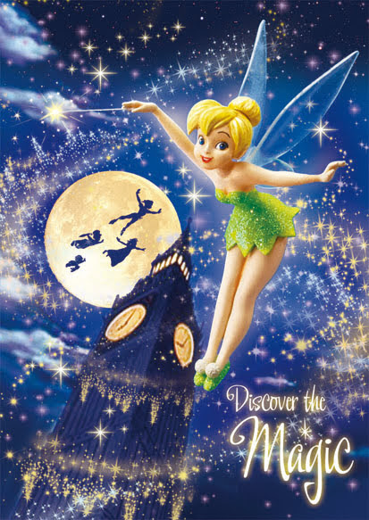 Disney Tinker Bell Magic Night 3D Lenticular Card