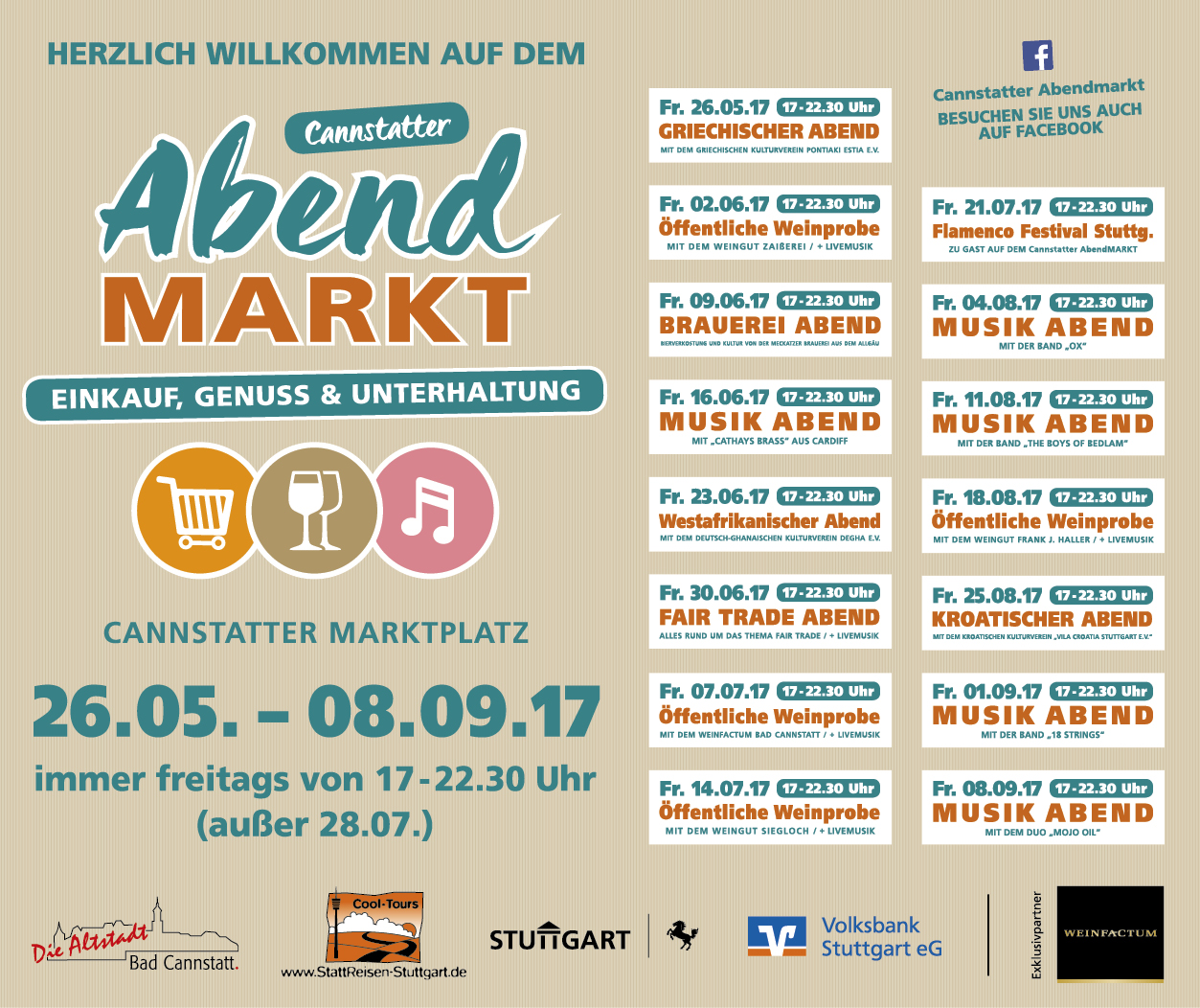 Bad cannstatt info abendmarkt cannstatt programm for Divan 2 bad cannstatt