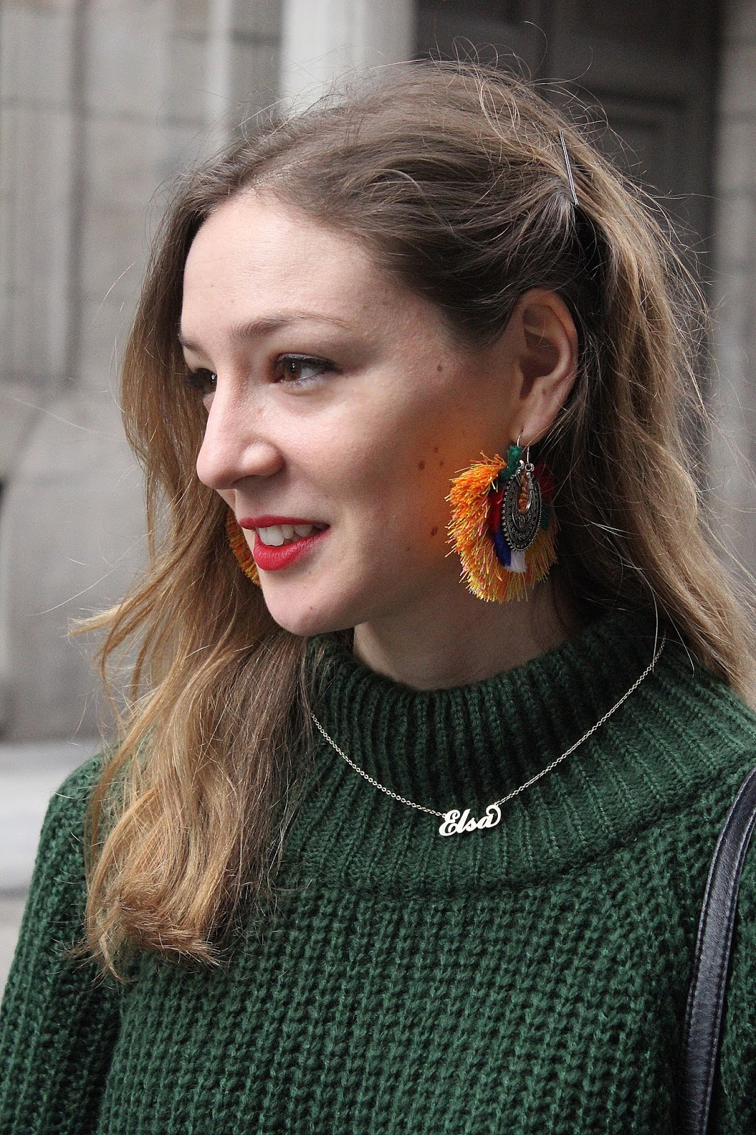 tribal-maxi-earrings-zaful-green-turtle-neck-street-style