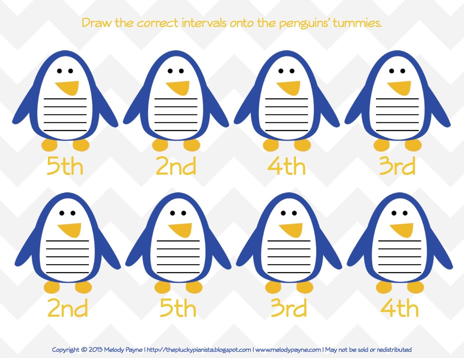 Penguintervals Printable Review Sheets Freebie