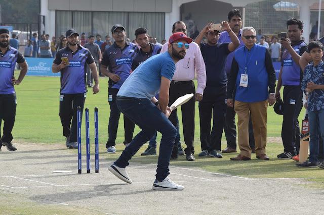 Yuvraj Singh in action