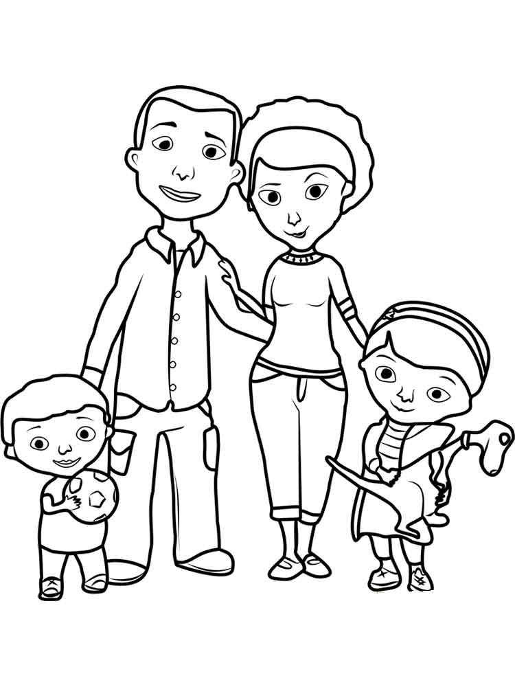 Картинки родители с детьми черно-белые, написать