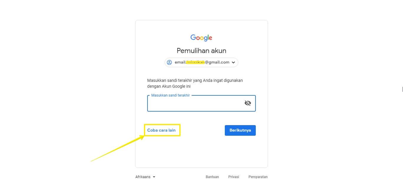 Cara Membuka Email Lupa Password