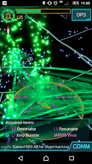 Screenshot of Ingress hack that rewarded a JARVIS Virus