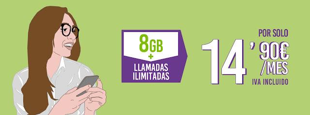 Tarifas Hits 8 GB y 16 GB