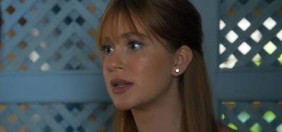 Luz (Marina Ruy Barbosa) vai aconselhar marido brigão em cena de O Sétimo Guardião