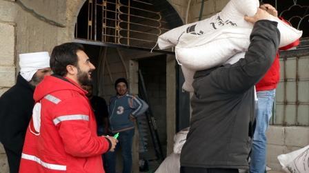 الهلال الأحمر يواصل تنفذ مشاريع لتمكين سبل العيش بالسويداء