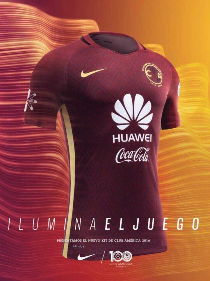 Stunning club america 2016 centenary kits released footy for Cuarto kit del america 2018