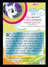 My Little Pony Rarity Series 5 Trading Card