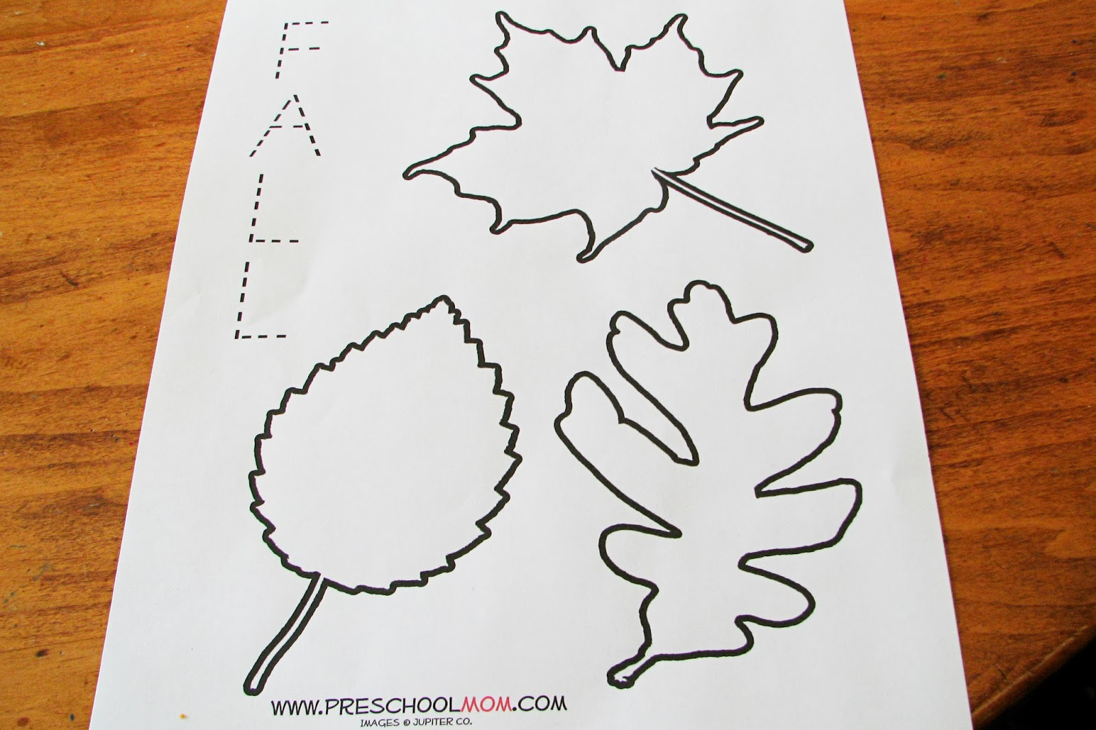 Mommy's Little Helper: Leaf Preschool Theme