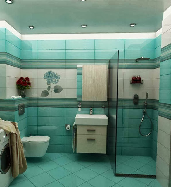 Elegant Bathroom Decorating: Cool And Elegant Turquoise Bathroom Design Ideas Pictures
