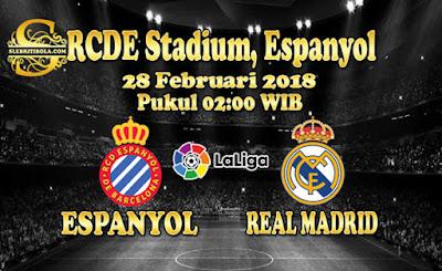 JUDI BOLA DAN CASINO ONLINE - PREDIKSI PERTANDINGAN LALIGA SPANYOL ESPANYOL VS REAL MADRID 28 FEBRUARI 2018